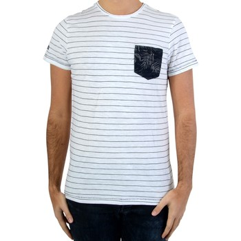 Vêtements Homme T-shirts manches courtes Deeluxe Tee Shirt Burke S17114 White Blanc