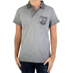 Vêtements Homme Polos manches courtes Deeluxe Polo Adamson S17226 Grey Gris