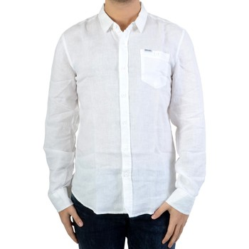 Vêtements Homme Chemises manches longues Deeluxe Chemise Timeo S17429 White Blanc