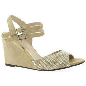Chaussures Femme Sandales et Nu-pieds Vidi Studio Nu pieds cuir python  sable Sable