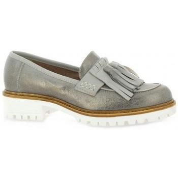 Chaussures Femme Mocassins Donna Più Mocassins cuir laminé Gris