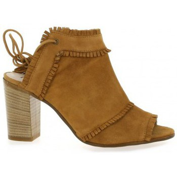 Chaussures Femme Boots Donna Più Boots cuir velours Camel