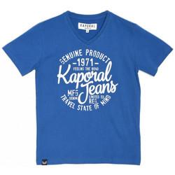 Vêtements Garçon T-shirts manches courtes Kaporal Mapid T-Shirt garçon Cobalt Bleu