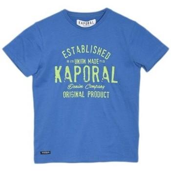 Vêtements Garçon T-shirts manches courtes Kaporal T-Shirt garçon Mosho Cobalt Bleu