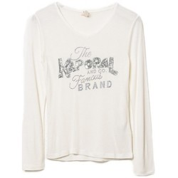 Vêtements Fille T-shirts manches longues Kaporal Tee-Shirt  Pesos Blanc Blanc