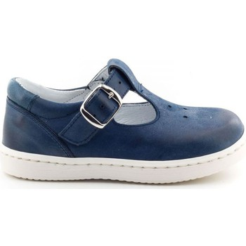 Chaussures Garçon Baskets mode Boni Classic Shoes Baskets en cuir à bride - GERY Bleu Marine