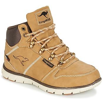 Chaussures Garçon Boots Kangaroos BLUERUN 2098 Miel