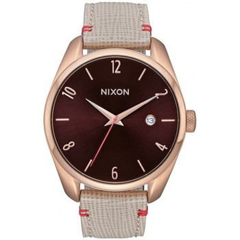 Montres & Bijoux Femme Montre Nixon Montre  Bullet Leather - Rose Gold / Brown Rose