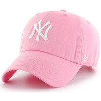 Accessoires textile Casquettes 47 Brand Casquette New York Yankees CLEAN UP Rose