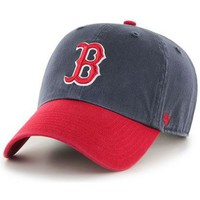 Accessoires textile Casquettes 47 Brand Casquette  Boston Red Sox Two Tone Clean Up Navy Rouge Bleu marine
