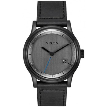 Montres & Bijoux Femme Montre Nixon Montre  Station Leather - All Black Noir
