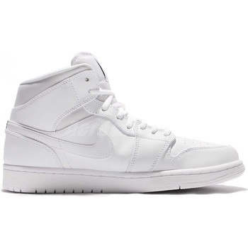 Chaussures Homme Baskets mode Nike Air Jordan 1 Mid - 554724-110 Blanc