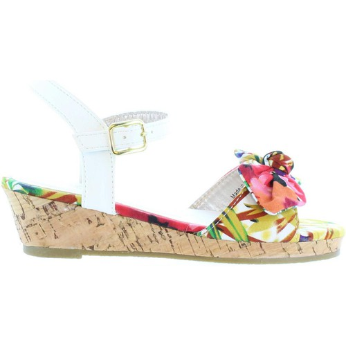 Chaussures Fille Sandales et Nu-pieds Flower Girl 340093-B4600 Blanco