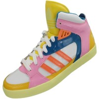 Chaussures Femme Baskets montantes adidas Originals Amberlight W Blanc-Bleu-Rose