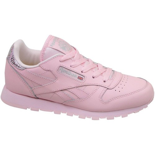 Chaussures Enfant Baskets basses Reebok Sport Classic Leather Metallic Rose