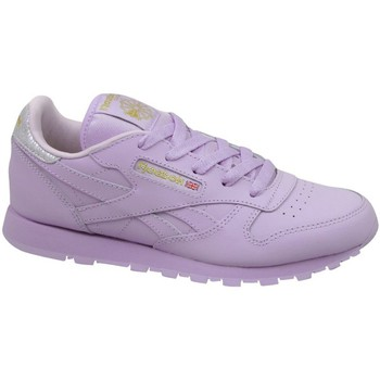 Chaussures Enfant Baskets basses Reebok Sport Classic Leather Metallic Violet