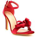 Cendriyon Sandales Rouge Chaussures Femme,