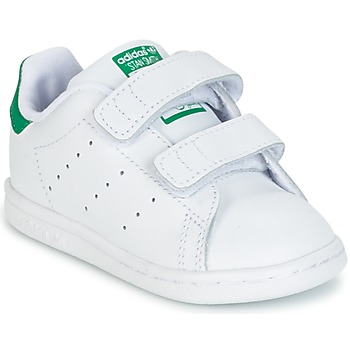 Chaussures Garçon Baskets basses adidas Originals STAN SMITH CF I Blanc / vert