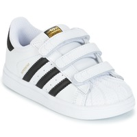 newest collection 64a01 53881 Chaussures Enfant Baskets basses adidas Originals SUPERSTAR CF I Blanc    noir