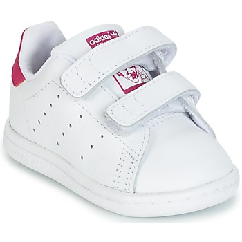 Chaussures Fille Baskets basses adidas Originals STAN SMITH CF I Blanc / Rose