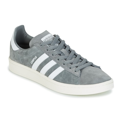 adidas Originals Campus Baskets à semelle rose Gris