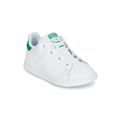 Chaussures Enfant Baskets basses adidas Originals STAN SMITH I Blanc / vert
