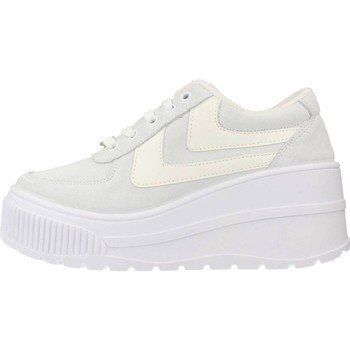 Chaussures Femme Baskets basses Yellow FAMOUS Blanc