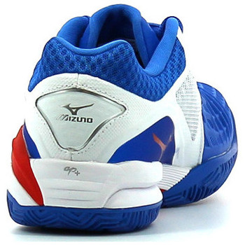 Chaussures Homme Sport Indoor Mizuno Wave Intense Tour 3 CC White / Blue / Chinese Red