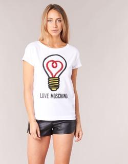 Vêtements Femme T-shirts manches courtes Love Moschino W4F3038E1512 Blanc