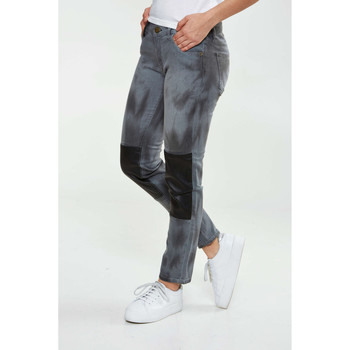 Vêtements Homme Jeans slim Shine Paris Jeans  Jones Cropped Skinny Gris Noir Femme Gris