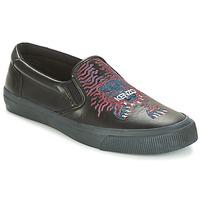 Chaussures Homme Slips on Kenzo VELVET Noir