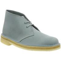 Chaussures Femme Bottines Clarks desert boot f bleu