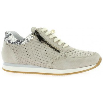 Chaussures Femme Baskets mode Pao Baskets cuir velours Beige