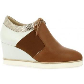 Chaussures Femme Derbies Benoite C derby cuir Cognac