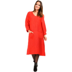Vêtements Femme Robes longues Bella Blue Robe ALINE rouge