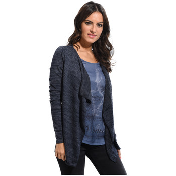 Vêtements Femme Gilets / Cardigans Cbk Gilet JOHANNA Femme Collection Printemps Eté Bleu marine