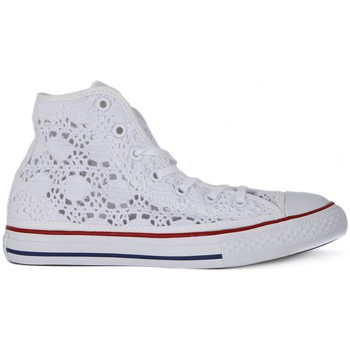 Chaussures Enfant Baskets montantes Converse ALL STAR HI CROCHET Bianco