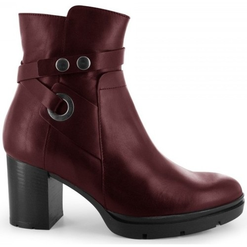 Chaussures Femme Bottines Manas Bottines Bordeaux