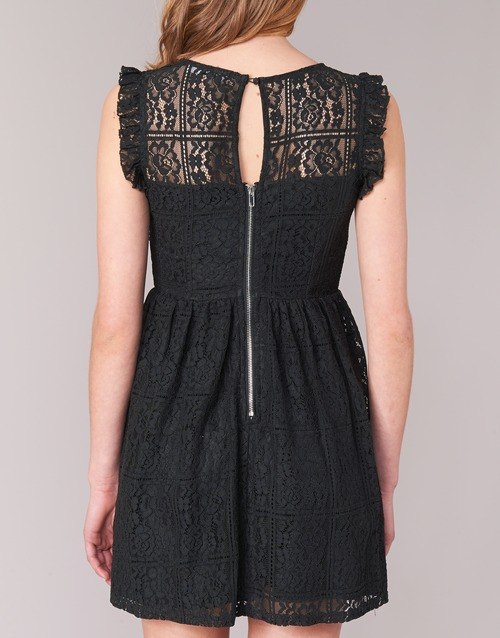 London Robes Courtes Glatos Betty Noir Femme H2IWE9D