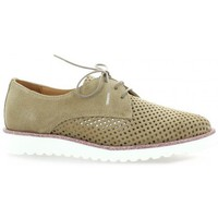 Chaussures Femme Derbies So Send Derby cuir velours Taupe