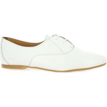 Chaussures Femme Derbies So Send Derby cuir Blanc