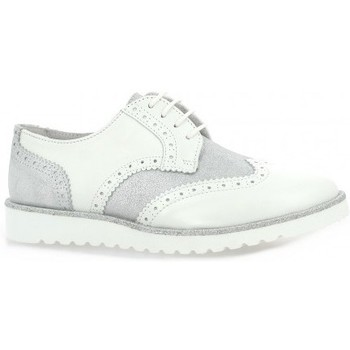 Chaussures Femme Derbies So Send Derby cuir Argent