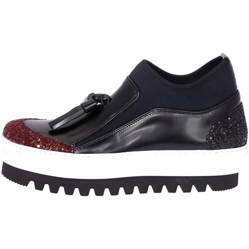 Chaussures Femme Baskets montantes Emporio Di Parma 754 Slip-on Femme Bordeaux Bordeaux
