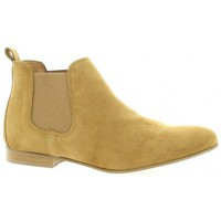 Chaussures Femme Boots So Send Boots cuir velours Camel