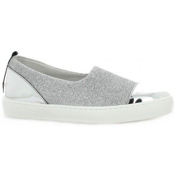 Chaussures Femme Baskets basses So Send Baskets cuir laminé Argent