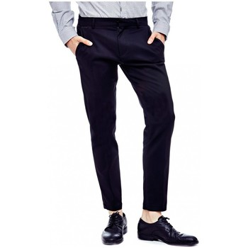 Vêtements Homme Chinos / Carrots Guess Pantalon Chino Homme Myron Noir Noir