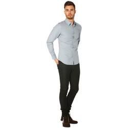 Vêtements Femme Chemises / Chemisiers G-Star Raw Chemise HOMME - CORE SHIRT LS_ASH BLUE(ATTON STRETCH POPLIN) Bleu