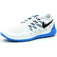 Chaussures Femme Running / trail Nike Wmns Free 5.0 White / Blue