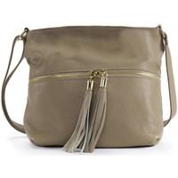 Sacs Femme Sacs Bandoulière Oh My Bag Sac à main bandoulière en cuir femme - Modèle London taupe clair TAUPE CLAIR