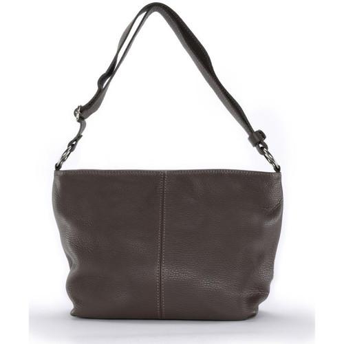 Sacs Femme Sacs porté épaule Oh My Bag Sac à Main cuir femme - Modèle KUTA taupe foncé TAUPE FONCE